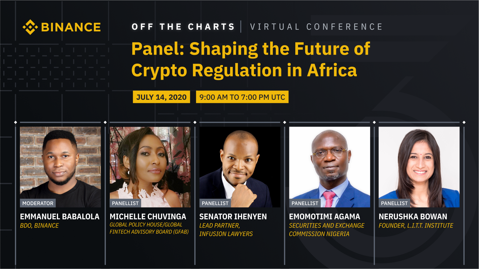 "Senator Ihenyen to speak at Binance ""Off the Charts"" Virtual Conference, Shaping the Future of Crypto Regulation in Africa"